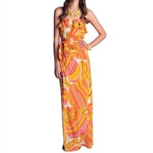 Trina Turk for Banana Republic Silk Maxi Dress